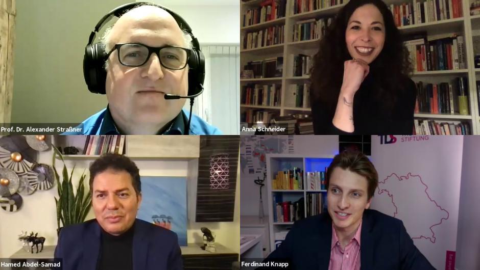 Zoom-Talk mit Abdel-Samad, Straßner, Schneider und Knapp