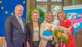 Thomas Hacker, MdB, Nadja Hirsch, MdEP, Ingrid Stadler und Sabine Leutheusser-Schnarrenberger Bundesjustizministerin a. D.